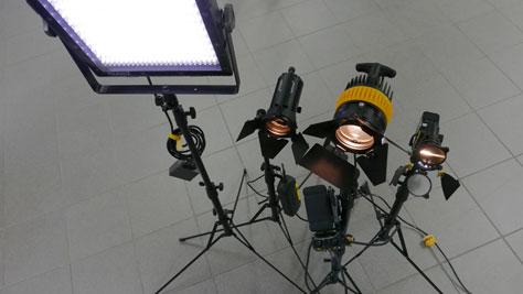 Lichtequipment für Profis bei bm - bildung in medienberufen in Köln.